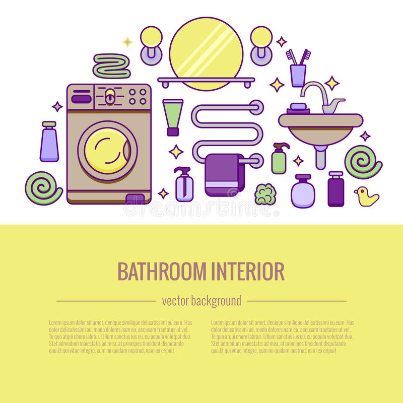 BATHROOM-END stock de ilustración