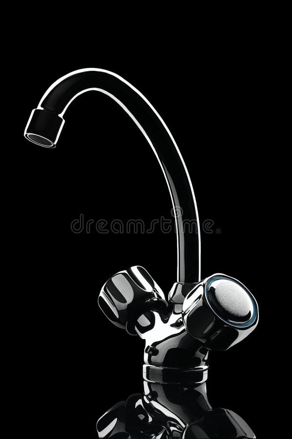 Bathroom equipment isolated on black background stock image