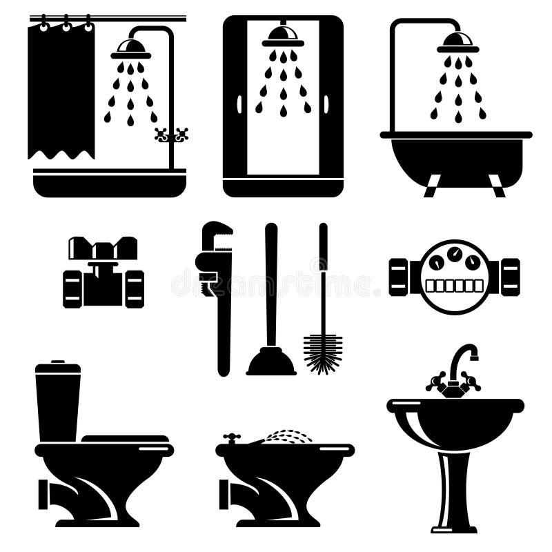 Bathroom equipment royalty free illustration