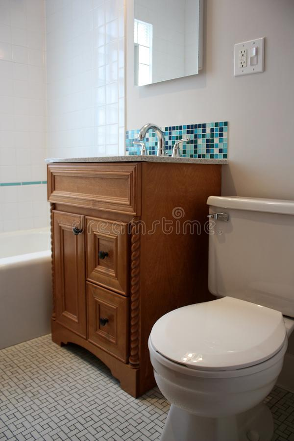 Bathroom with Glass Mosaic Tile royalty free stock photos