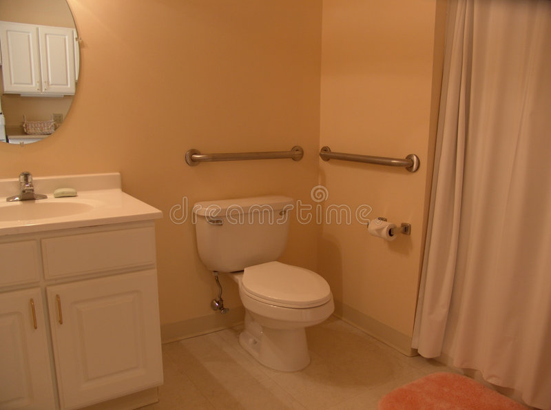 Download Bathroom with grab bars stock image. Image of show, bathroom - 909759