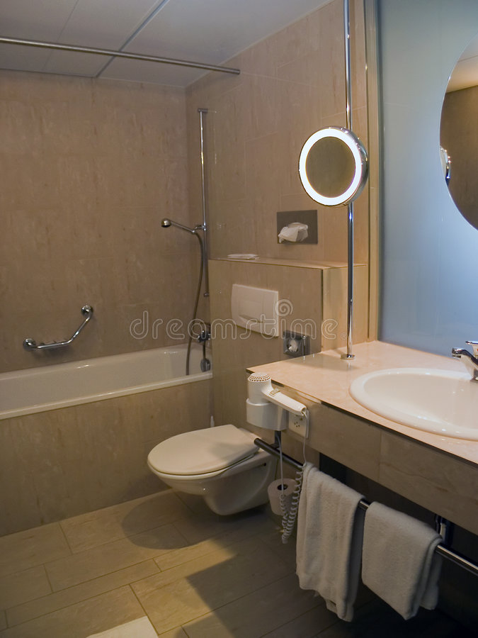 Bathroom in Hotel stock images