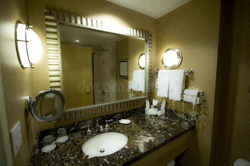 Download Bathroom of a hotel room stock photo. Image of clean - 19920116
