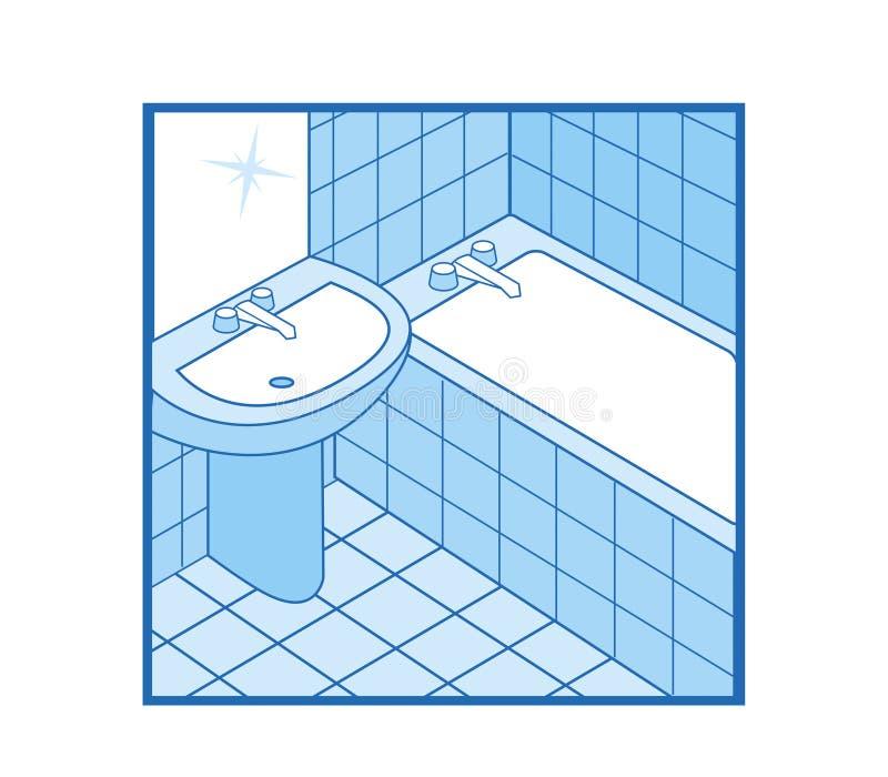 Bathroom Icon stock photos