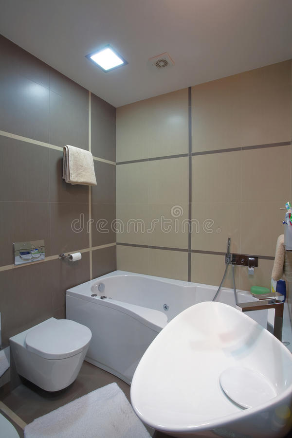 Download Bathroom interior stock photo. Image of morning, simple - 17827976
