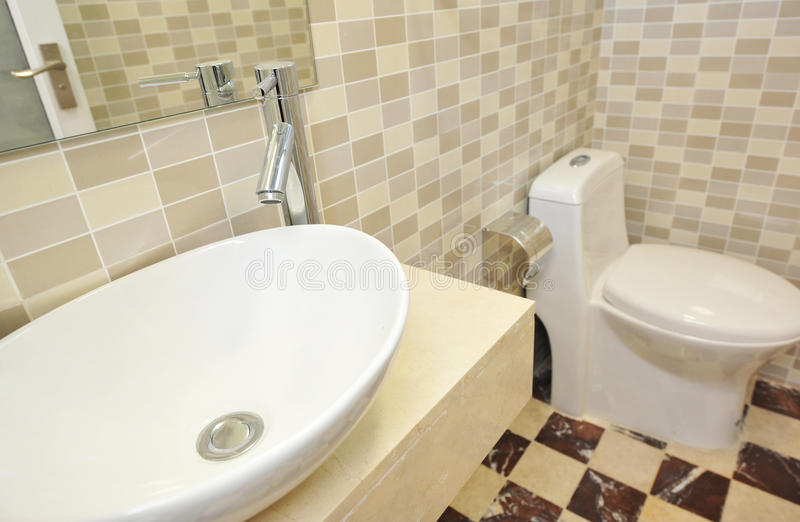 Bathroom interior. A picture of modern bathroom interior royalty free stock image