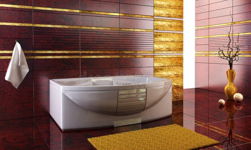Bathroom interior. 3d rendering of the modern bathroom
