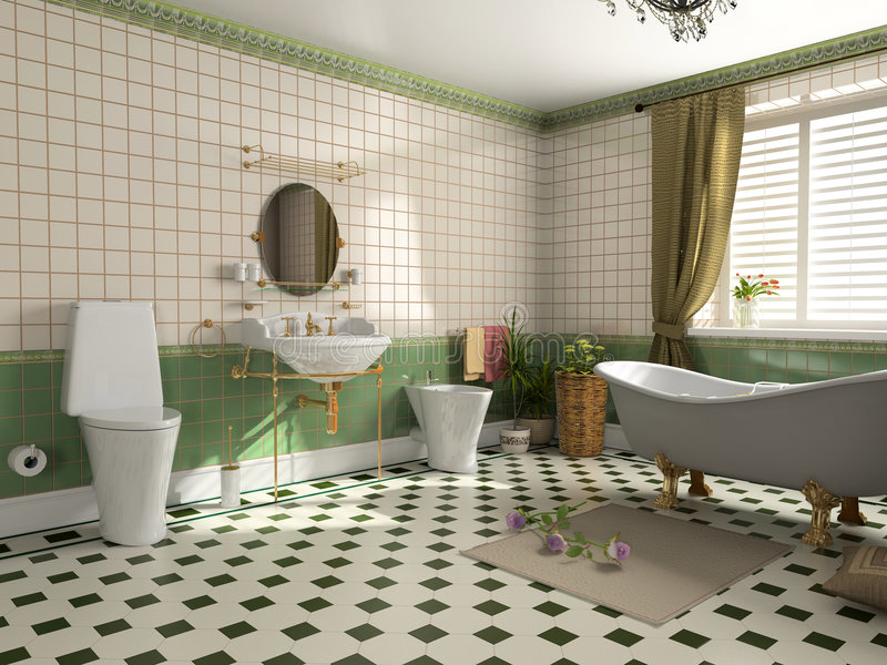 Bathroom interior royalty free illustration