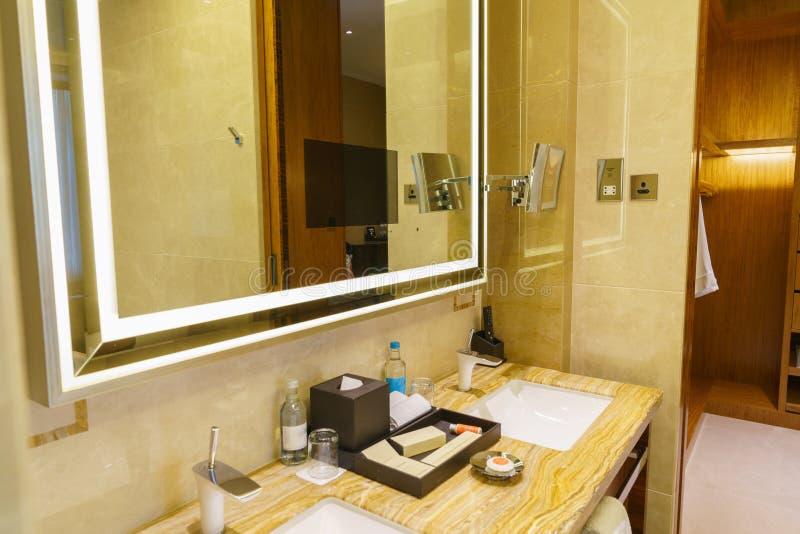 Download Bathroom Interior Of Brand New Luxury Resort Hotel Stock Photo    Image Of Elegant,