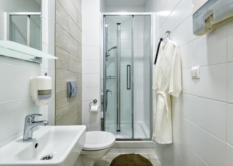 Bathroom interior in the clinic royalty free stock image