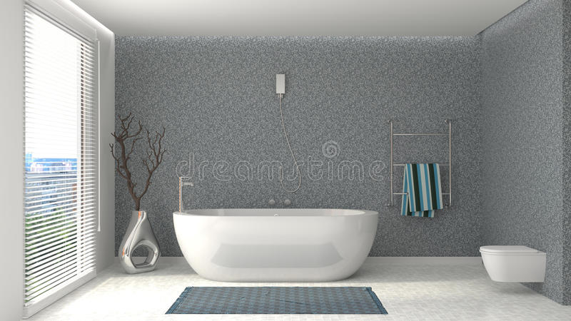 Bathroom interior. 3D illustration royalty free illustration