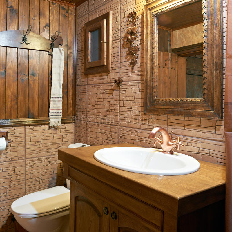 Bathroom interior of guest house stock images