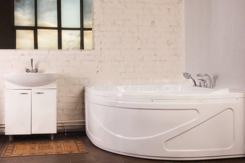 Bathroom Interior in luxury home royalty free stock photos