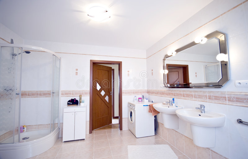bathroom interior modern στοκ εικόνες