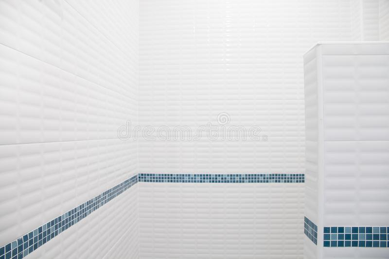 Bathroom interior with tiles mosaic.  royalty free illustration