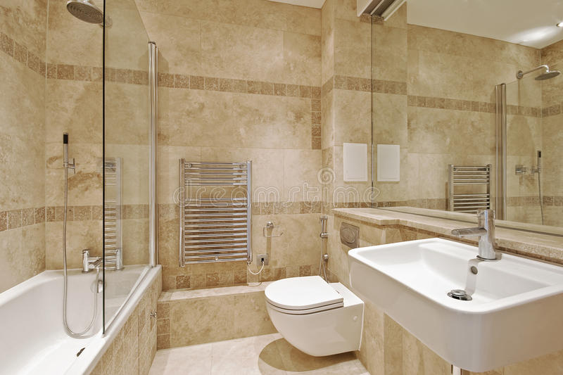 Bathroom with marble royalty free stock photography