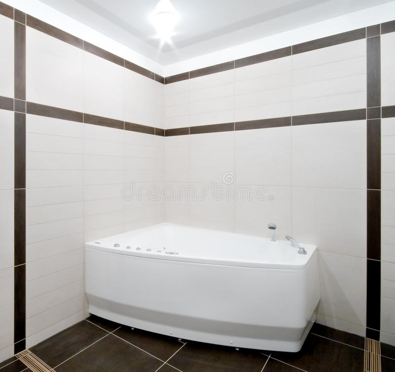 Bathroom in minimalism style stock images