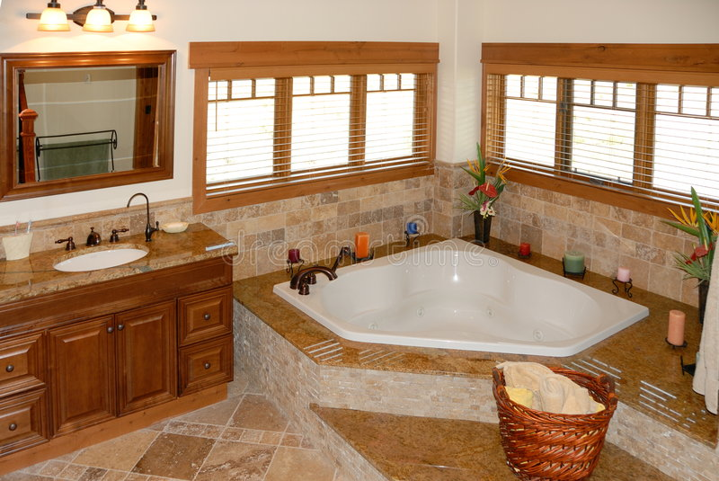 Bathroom in modern home stock photography