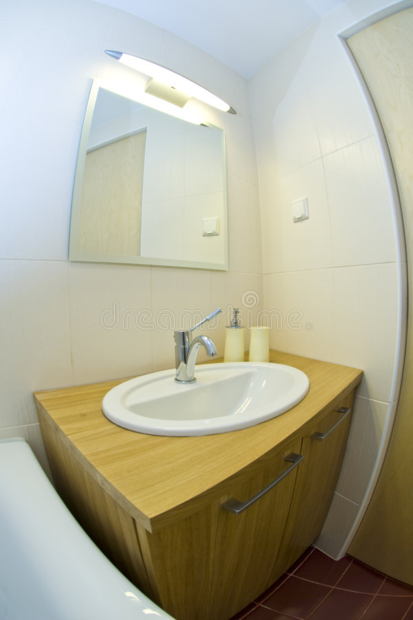 bathroom modern small στοκ φωτογραφία