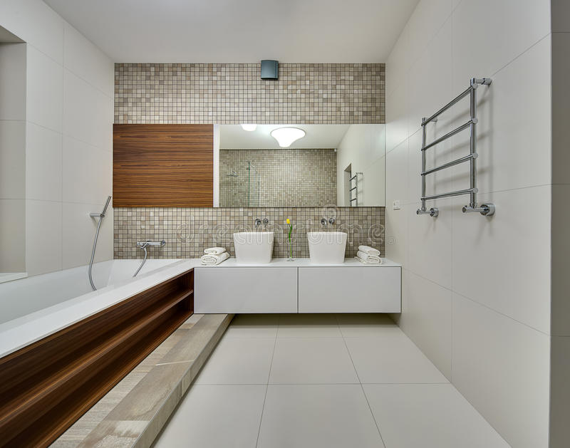Bathroom in a modern style stock photo