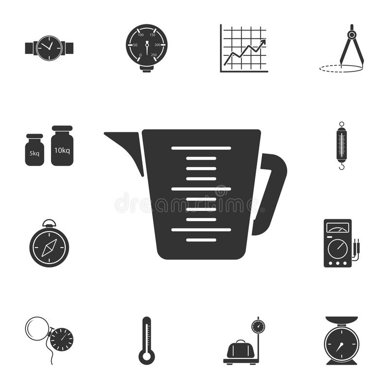 bathroom mug with measurements icon. Simple element illustration. bathroom mug with measurements symbol design from Measuring coll vector illustration