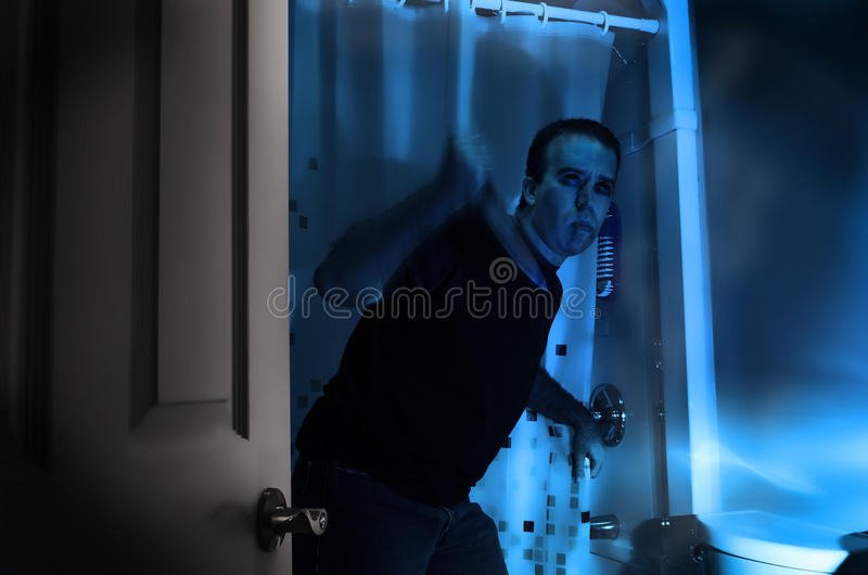 Bathroom Murder royalty free stock photo