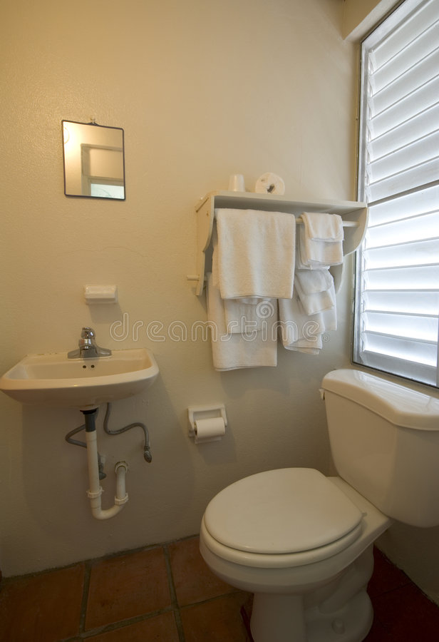 Bathroom native hotel Vieques Puerto Rico royalty free stock photo