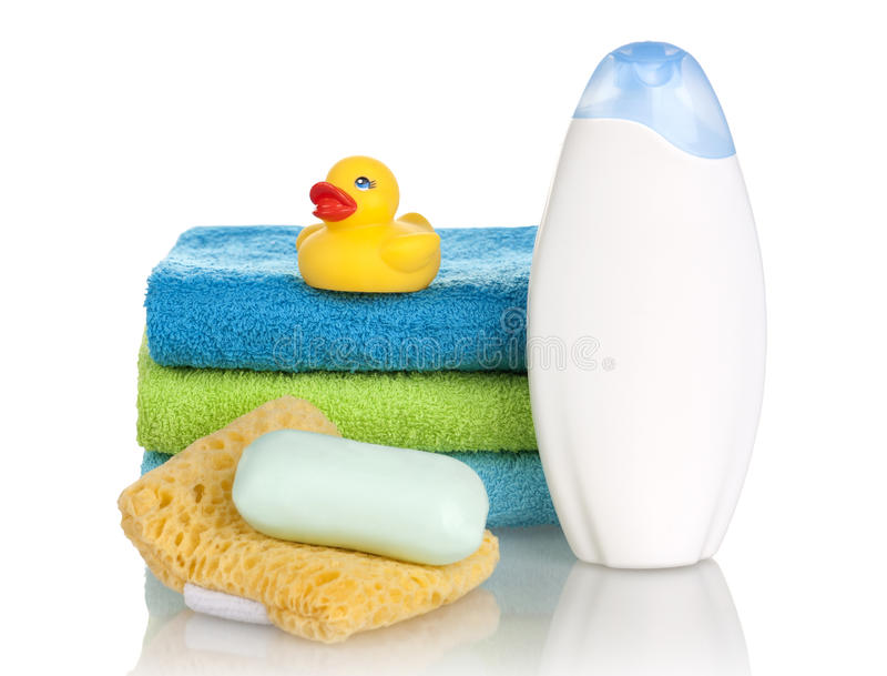 Bathroom products stock photo