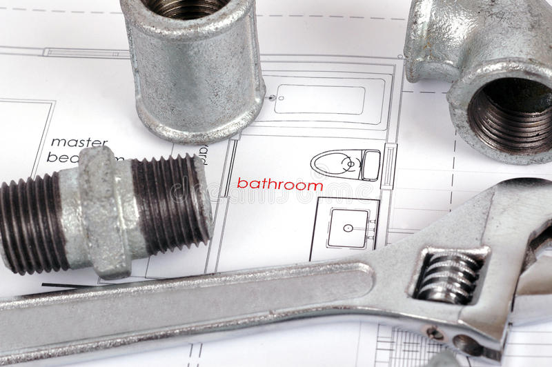 Bathroom renovation royalty free stock images