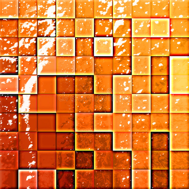 Bathroom's tiles orange and re stock illustration