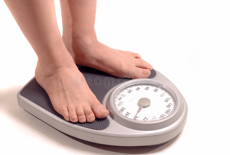 Bathroom scale royalty free stock photography