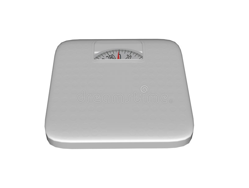 Bathroom Scale with Clipping Path. 3D rendered bathroom scale on a white background with clipping path stock photos