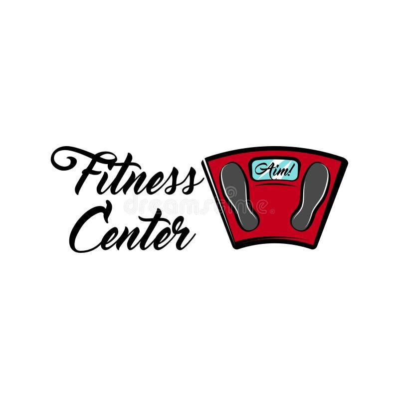 Bathroom scale icon. Fitness center emblem label logo. Weight loss motivation. Vector. vector illustration