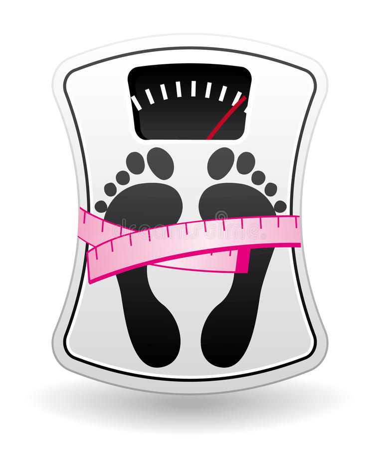 Download Bathroom Scale With Measure Meter Stock Vector - Illustration: 13550431