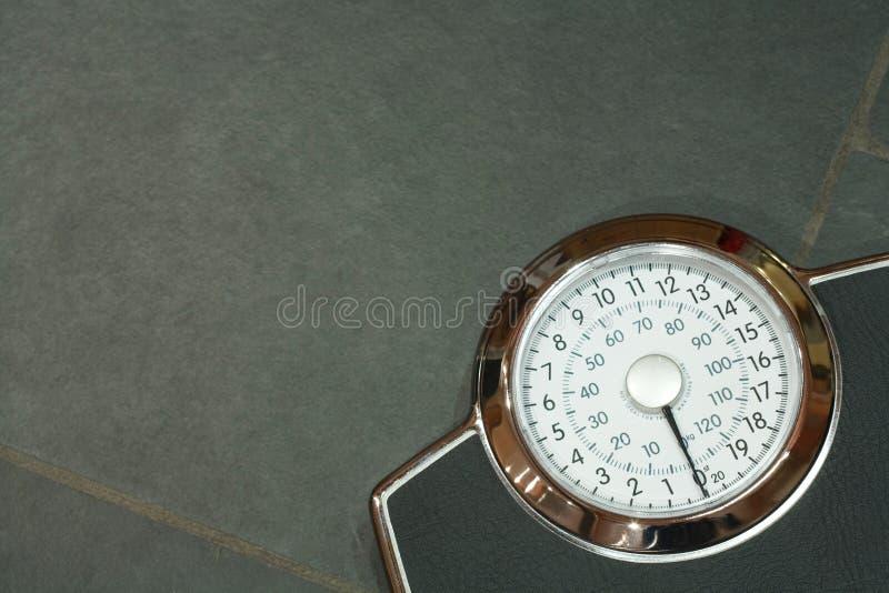 Bathroom scales stock image