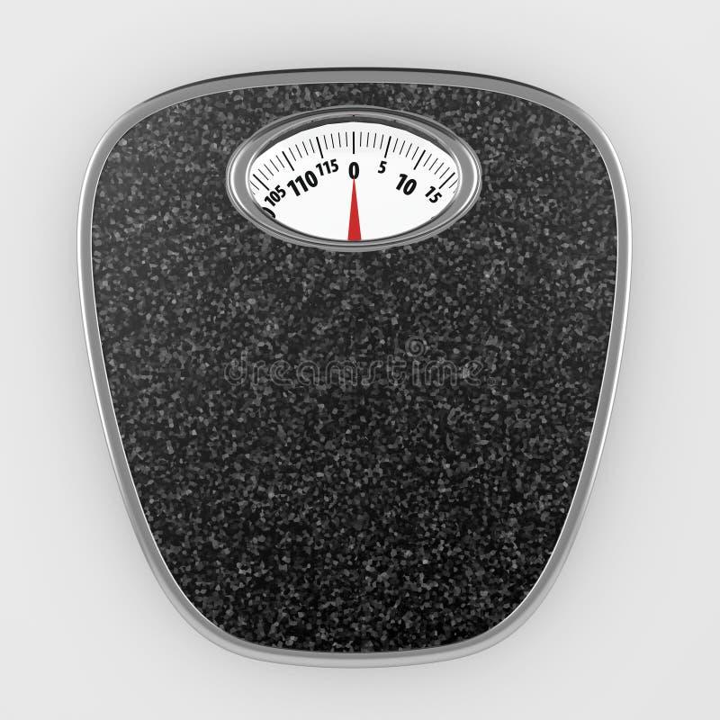 Download Bathroom scales stock illustration. Image of grey, diet - 12837386