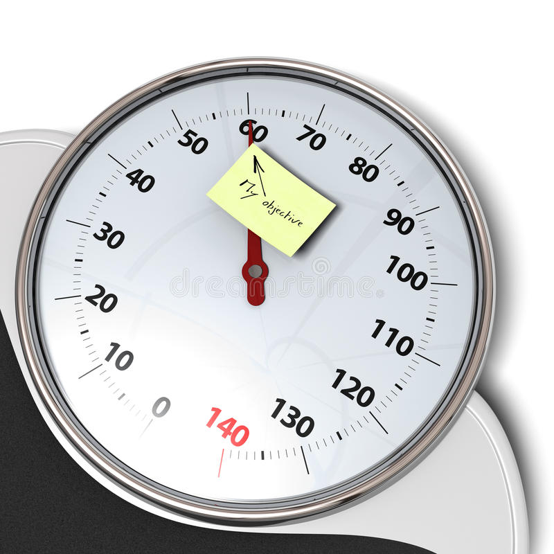 Download Bathroom scales stock illustration. Image of objective - 22675936