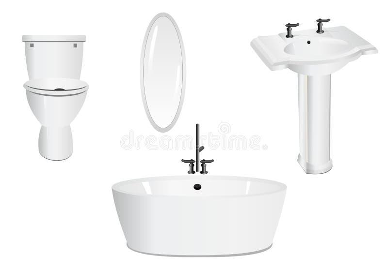 Bathroom set, cdr vector stock photography