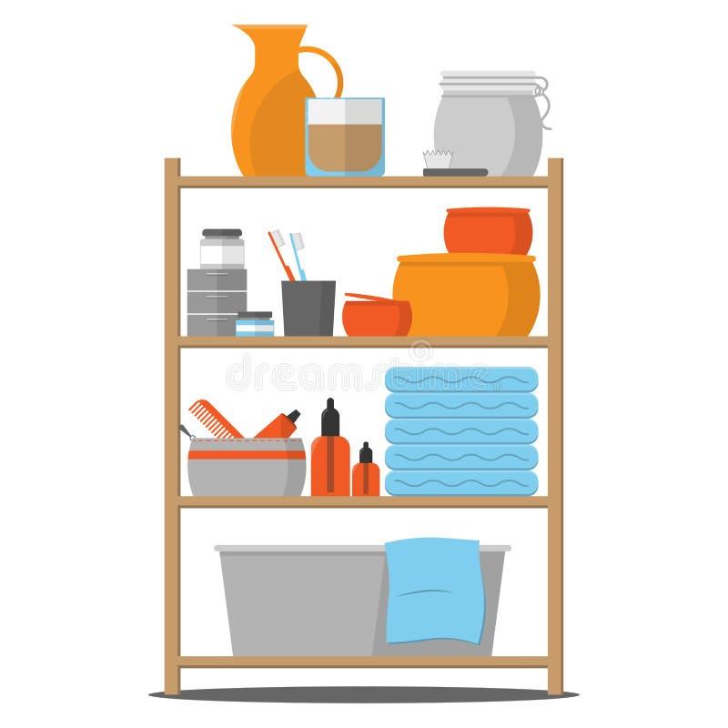 Bathroom_Shelf illustrazione vettoriale