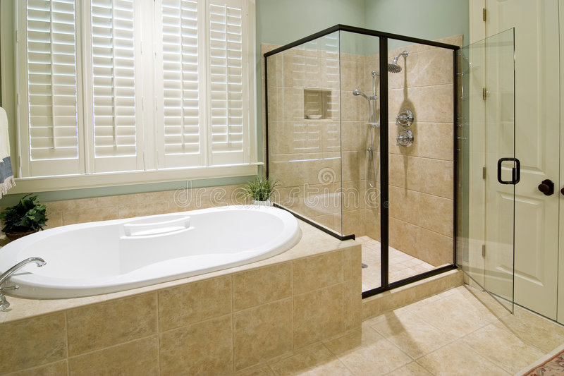 Bathroom with shower royalty free stock image