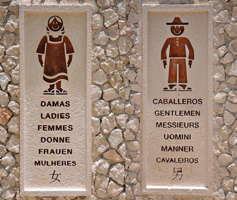 Download Bathroom Sign stock photo. Image of language, female - 26273060