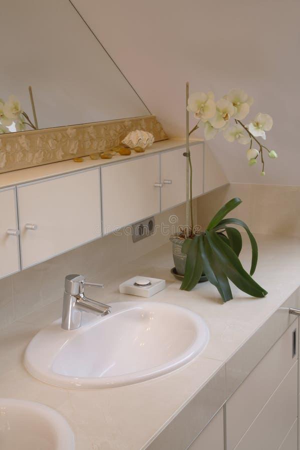 Bathroom sink stock photo