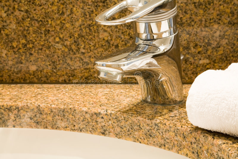 Bathroom sink stock image