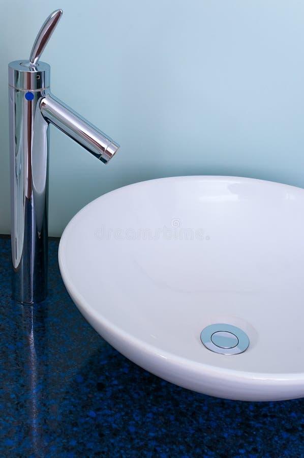 Bathroom sink bowl counter tap mixer stock photos