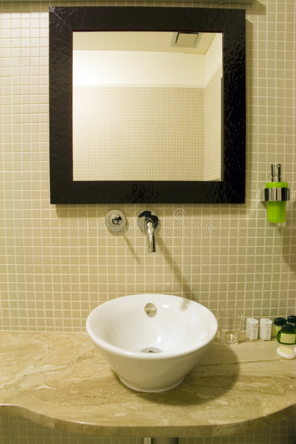 Download Bathroom sink and mirror stock image. Image of mirror - 3071887