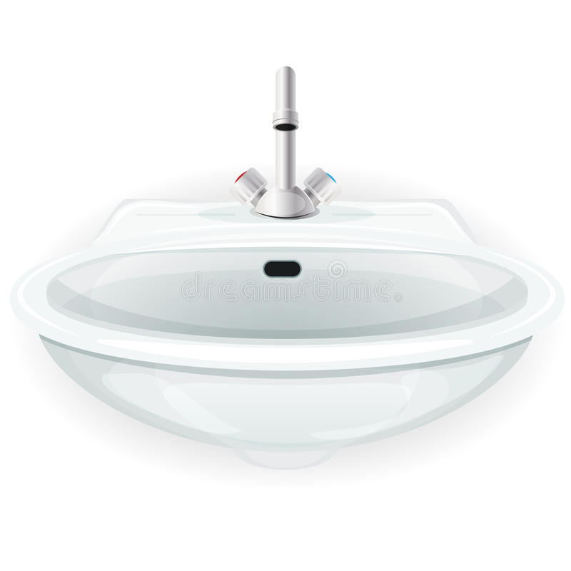 Bathroom Sink With Tap royalty free illustration