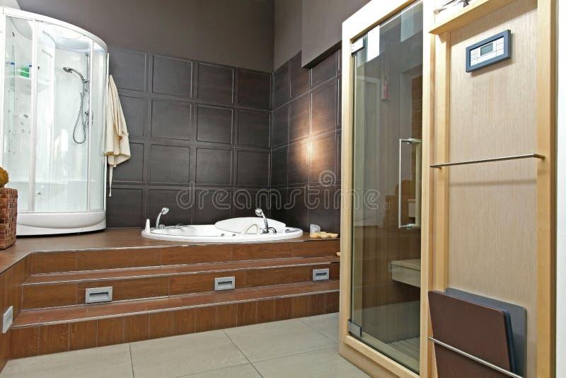 Bathroom spa stock image
