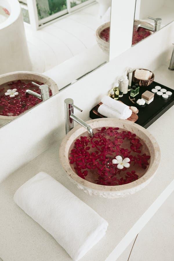 bathroom spa decor stock image image of suite interior 67598467