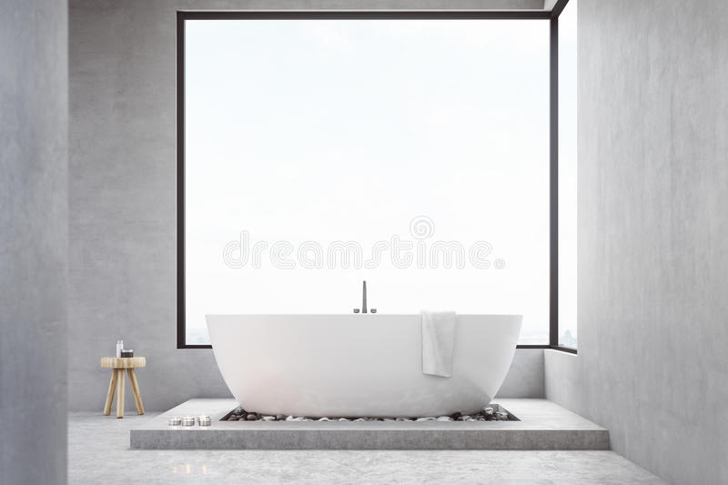 Download Bathroom With Square Window Stock Illustration - Image: 83722657