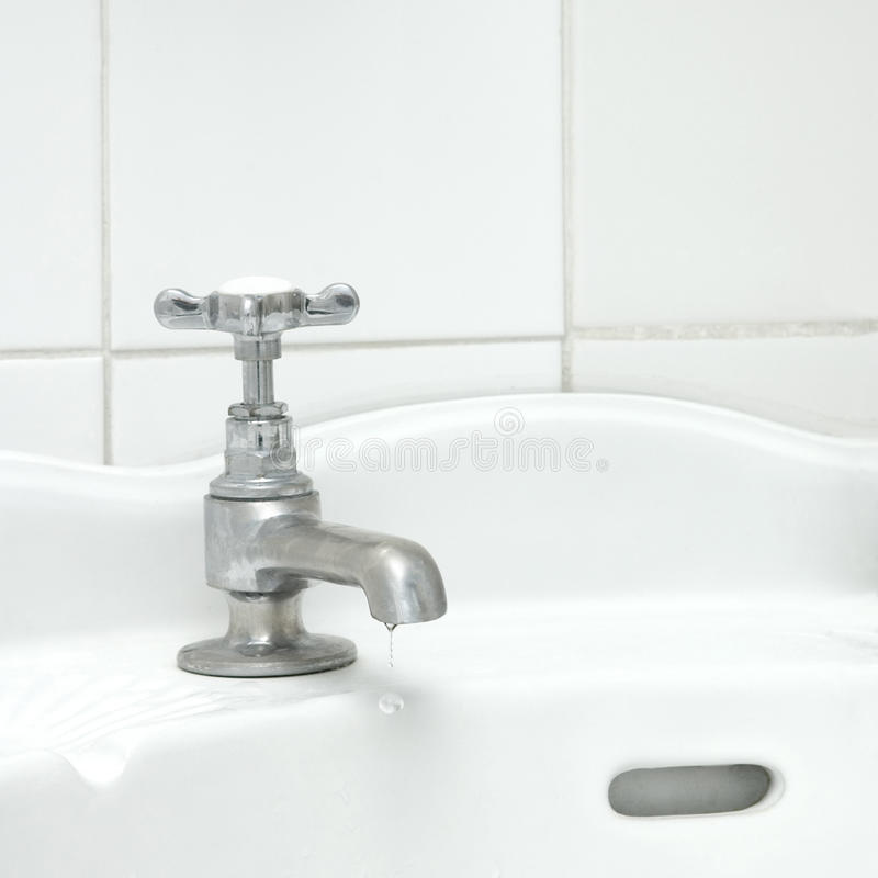 Bathroom tap stock image